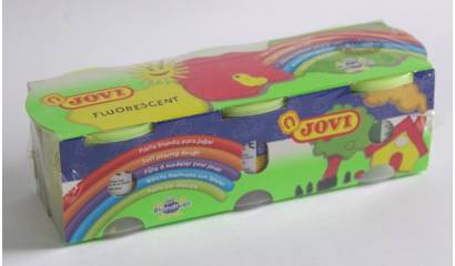 Ciastolina JOVI fluorescencyjna 3kol. 403F