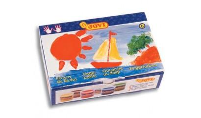 Farby do malowania palcami JOVI 6kol.x 125ml 560/S