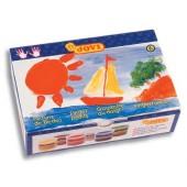 Farby do malowania palcami JOVI 6 kolorówx 125ml 560 / S