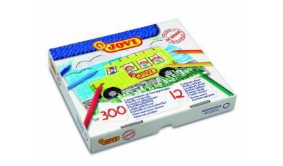 Kredki plastikowe JOVI hexagonalne 12kol. (300szt) 909