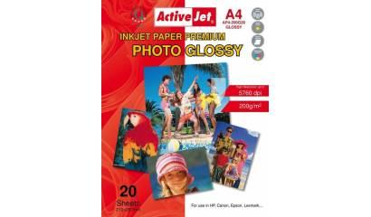 Papier fotograficzny Active Jet A4 200g błyszczący AP4-200G20 (20ark)