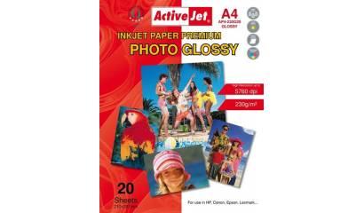 Papier fotograficzny Active Jet A4 230g błyszczący AP4-230G20 (20ark)