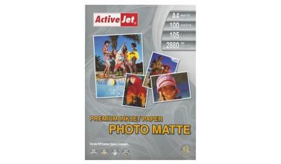 Papier fotograficzny Active Jet A4 105g mat premium AP4-105M100 (100ark)