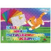 Zeszyt papierów kolorowych ALIGA 25x35cm metaliczne/wytłaczane  ZPMW-6386