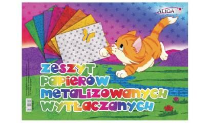 Zeszyt papierów kolorowych ALIGA 25x35cm metaliczne / wytłaczane  ZPMW-6386