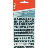 Litery samoprzylepne APLI 25mm czarne (209szt)  AP4425