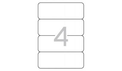 Etykiety samoprzylepne APLI 190x61mm białe (10ark=40szt) AP12920