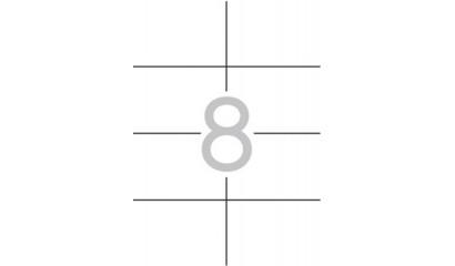 Etykiety samoprzylepne APLI 105x74mm białe (10ark=80szt) AP12921