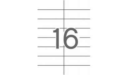 Etykiety samoprzylepne APLI 105x37mm białe (10ark=160szt) AP12922