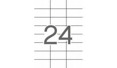 Etykiety samoprzylepne APLI 70x37mm białe (10ark=240szt) AP12923