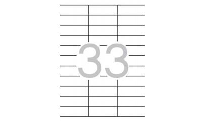 Etykiety samoprzylepne APLI 70x25.4mm białe (10ark=330szt) AP12924