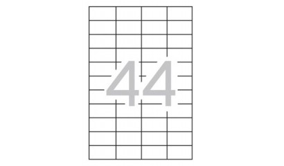 Etykiety samoprzylepne APLI 48.5x25.4mm białe (10ark=440szt) AP12925
