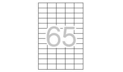 Etykiety samoprzylepne APLI 38x21.2mm białe (10ark=650szt) AP12926