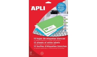 Etykiety samoprzylepne APLI 25.4x10mm białe (10ark=1890szt) AP12927