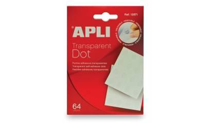 Samoprzylepna pinezka APLI bezbarwna (64szt) AP12871