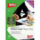Papier fotograficzny APLI Glossy Laser A4 210g błyszczacy (100ark)