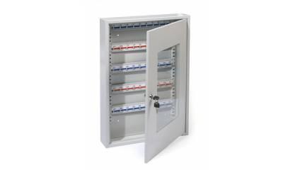 Szafka na klucze ARGO ze szkl. drzwiami 60 zaw./50 m. na kl. j.popielaty HF550T-50K