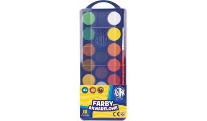 Farba akwarelowa ASTRA 18kol. fi.23,5mm 83210900