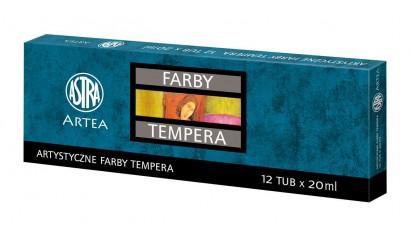 Farby tempera ASTRA 12kol. tuba 20ml.83414900