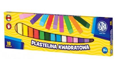 Plastelina szkolna ASTRA 18kol. kwadratowa 83814904