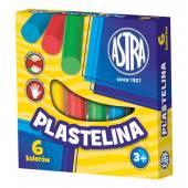 Plastelina szkolna ASTRA 6 kolorów tradycyjne 83811905