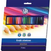 Kredki akwarelowe ASTRA 24  kolorów  312110005