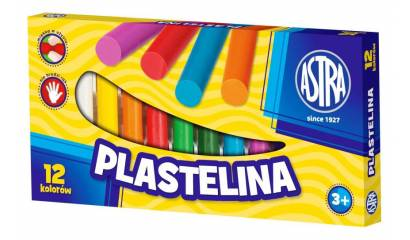 Plastelina szkolna ASTRA 12  kolorów  tradycyjna przybory szkolne