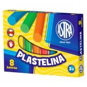 Plastelina szkolna ASTRA 8 kolorów  tradycyjna 83814902