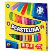 Plastelina szkolna ASTRA 24 kolorów  tradycyjna 303110001