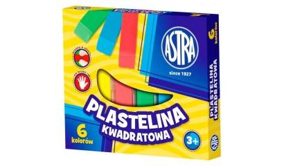 Plastelina szkolna ASTRA 6kol. kwadratowa 83811908