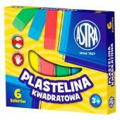 Plastelina szkolna ASTRA 6 kolorów kwadratowa 83811908
