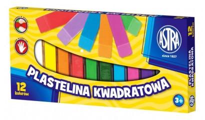 Plastelina szkolna ASTRA 12kol. kwadratowa 83813908
