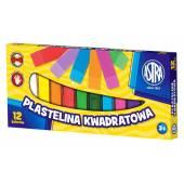Plastelina szkolna ASTRA 12 kolorów kwadratowa 83813908