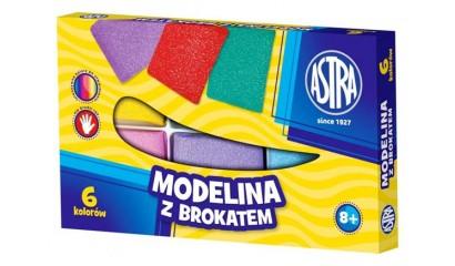 Modelina ASTRA 6kol. z brokatem 304109001