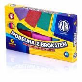 Modelina ASTRA 6 kolorów z brokatem 304109001