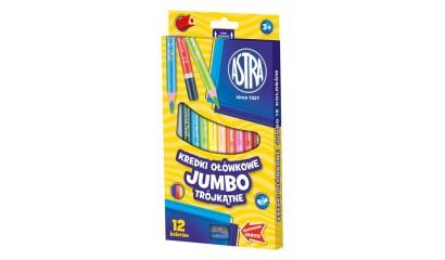 Kredki ołówkowe ASTRA Jumbo trójkatne 12kol. 312110007