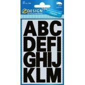 Naklejki Z Design - Litery  (100 pkt./25 mm) czarne - wodoodporne