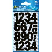 Naklejki Z Design - Cyfry (100 pkt./25 mm) czarne - wodoodporne