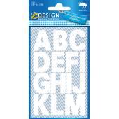 Naklejki Z Design - Litery(100 pkt./25 mm) białe - wodoodporne