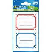 Naklejki Z-Design na książki i zeszyty - kolorowe ramki