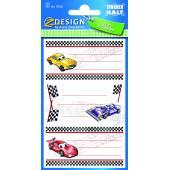Naklejki na zeszyty - samochody AVERY 59201