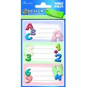 Naklejki na zeszyty - litery ABC AVERY 59203