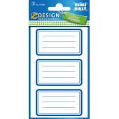 Naklejki Z-Design na zeszyty - niebieskie ramki