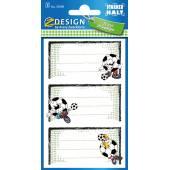 Naklejki Z-Design na zeszyty - piłka nożna