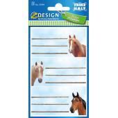 Naklejki Z-Design na zeszyty - konie