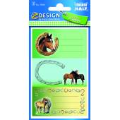 Naklejki na zeszyty i książki - konie 2 AVERY 59681