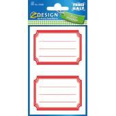 Naklejki Z-Design na zeszyty i książki - czerwone ramki