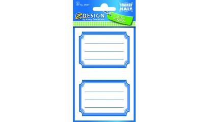 Naklejki na zeszyty i książki - niebieskie ramki AVERY 59687