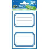 Naklejki Z-Design na zeszyty i książki - niebieskie ramki