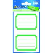 Naklejki na zeszyty i książki - zielone ramki  AVERY 59688